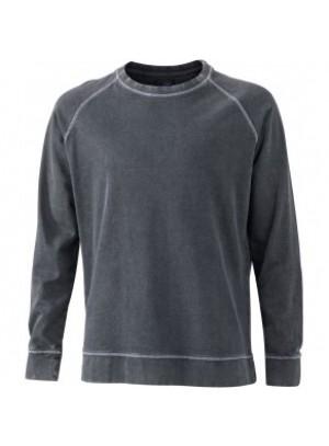 James & Nicholson Elegáns Férfi Kerek nyakú fekete színű pulóver