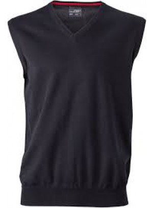 James & Nicholson  Férfi V-nyakú ujjatlan pulóver fekete színű