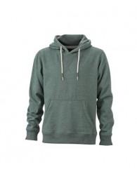 James & Nicholson zöld Férfi kapucnis pulóver