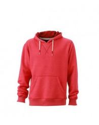James & Nicholson piros Férfi kapucnis pulóver