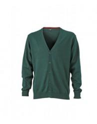 James & Nicholson sötétzöld színű Férfi V-nyakú Kardigán