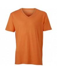 James & Nicholson narancs színű Férfi V-nyakú póló