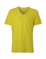 James & Nicholson sárga színű Férfi V-nyakú póló