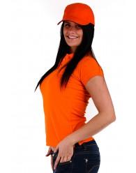 Női Galléros Póló - Narancs